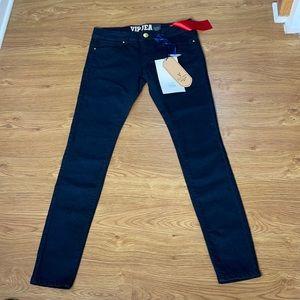 VIP Skinny Leg Jeans Size 9/10 Dark Blue Stretchy